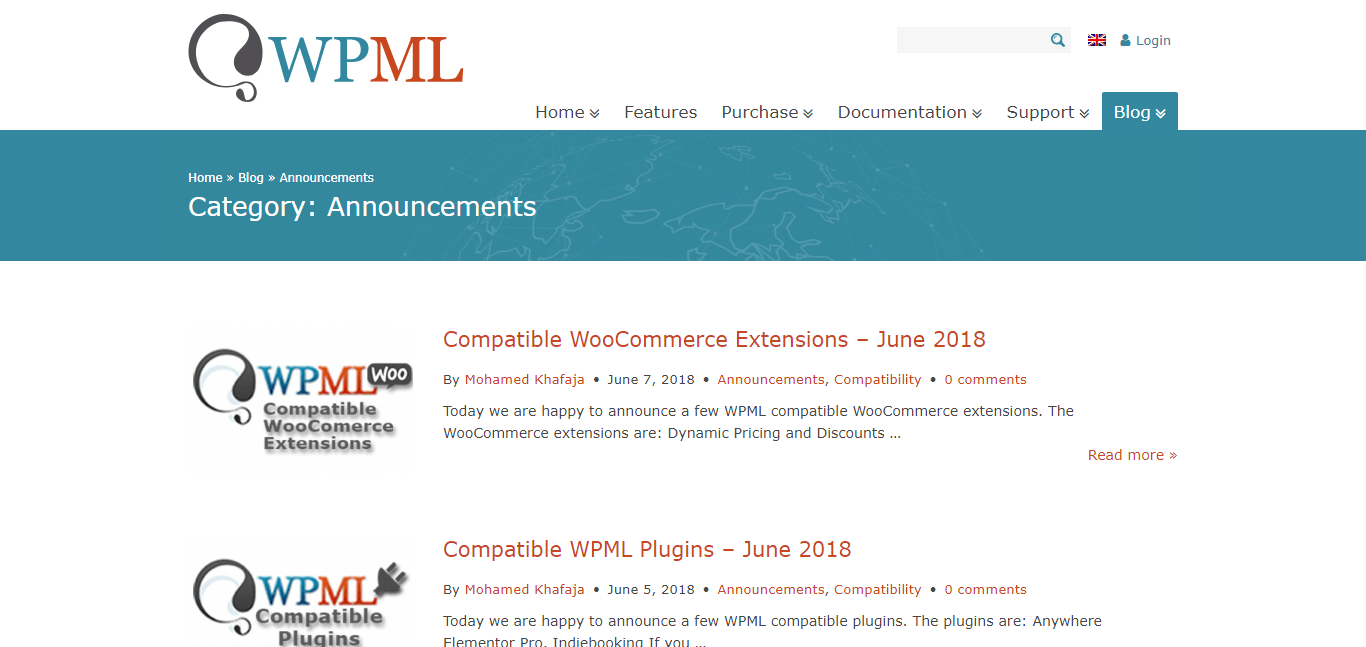 WooCommerce Multilingual Blog (Website)