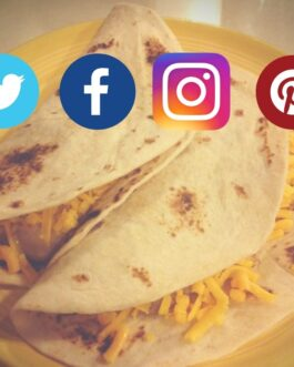 Social media tacos: Bean & cheese platter