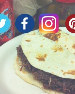 Social media tacos: Barbacoa & Big Red package